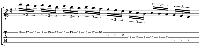 awesome shred guitar solo in g major