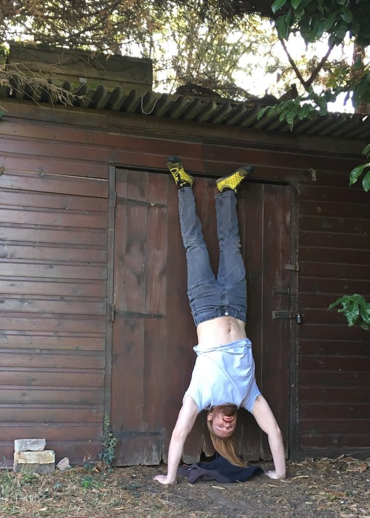 part 1 of how to do a handstand pushup