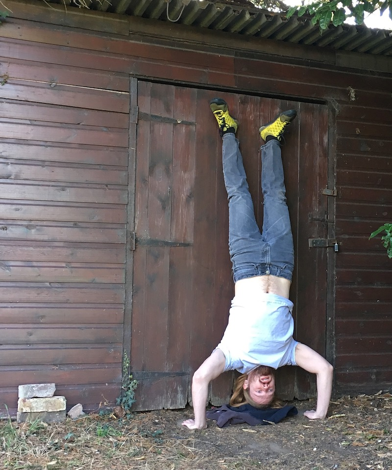 part 2 of how to do a handstand pushup