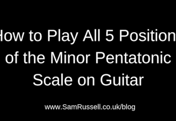free guitar lesson on playing the minor pentatonic scale on guitar